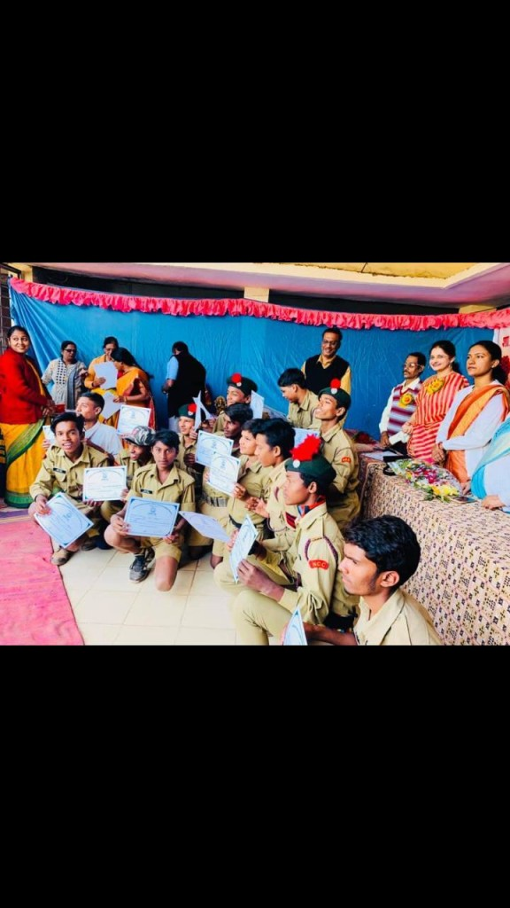 annual function in pyaare lal yadav goverment school raipur ncc 3 new